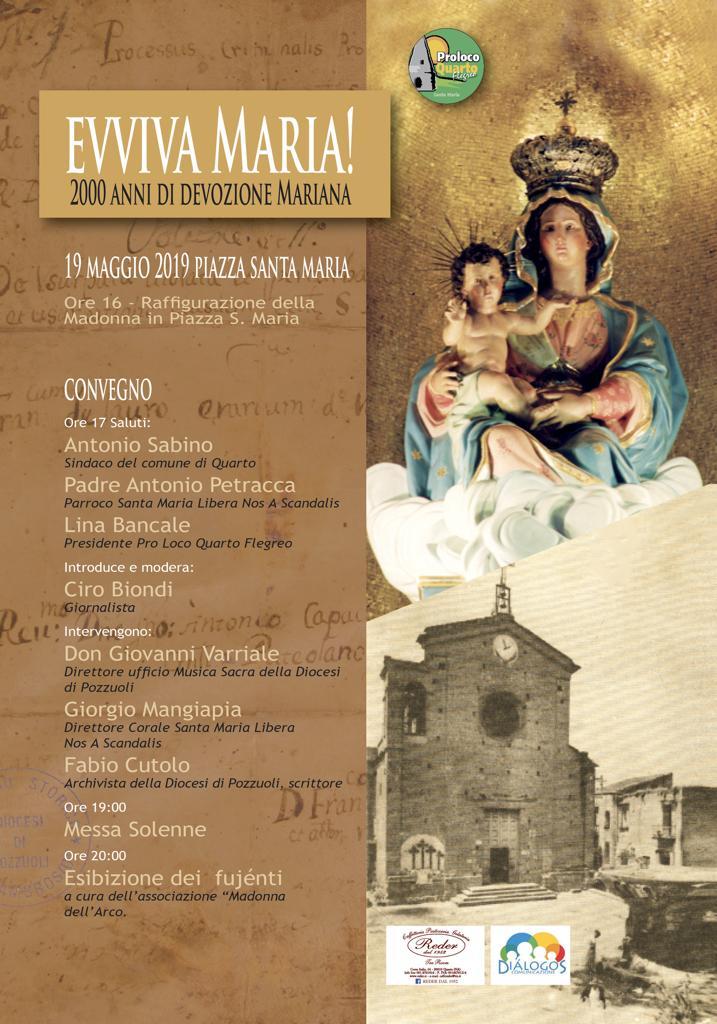 """""""Evviva Maria"""", a Quarto evento per celebrare la devozione mariana"""