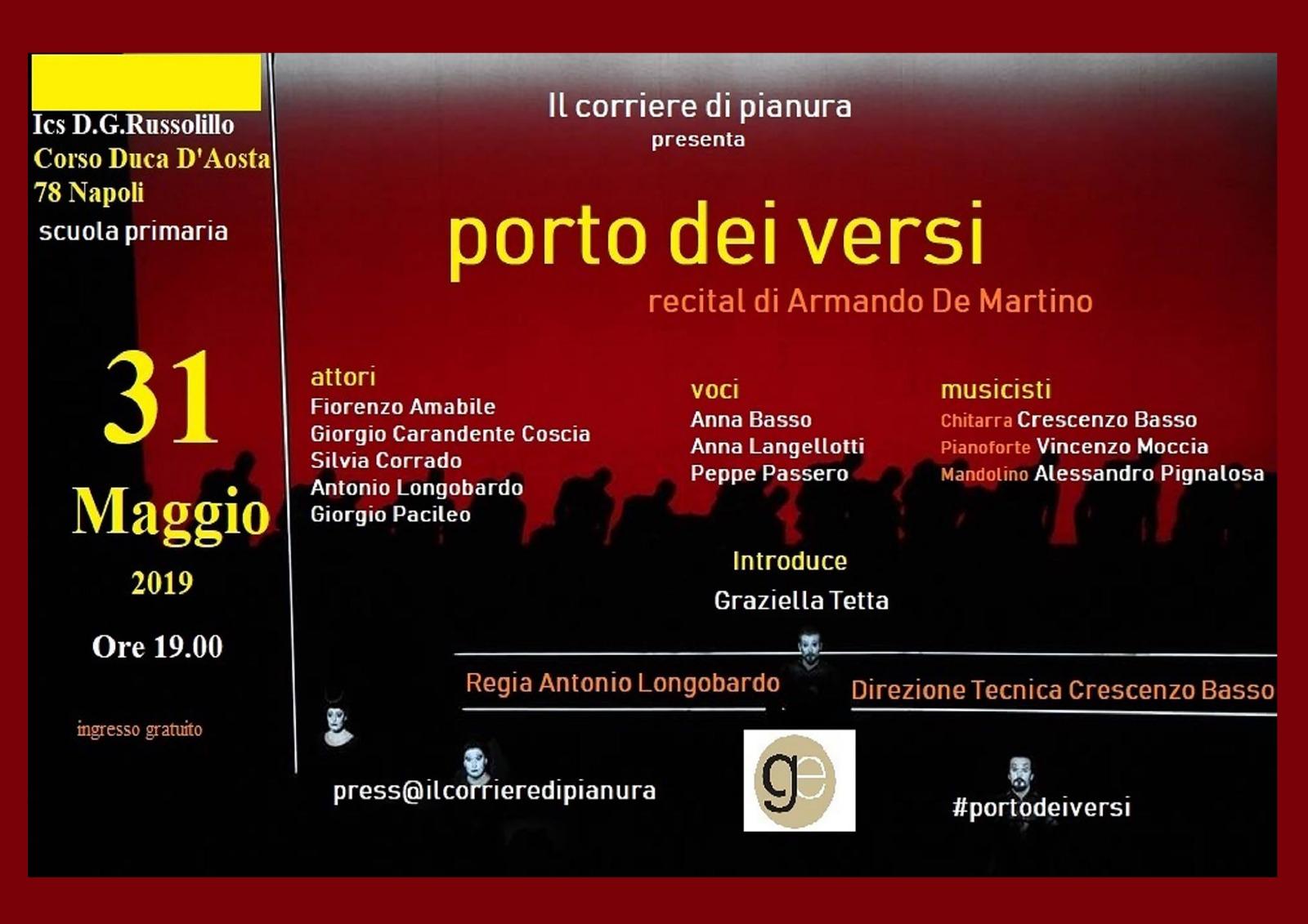 """""""Porto dei Versi"""": domani all'Istituto Russolillo in scena i talenti pianuresi"""