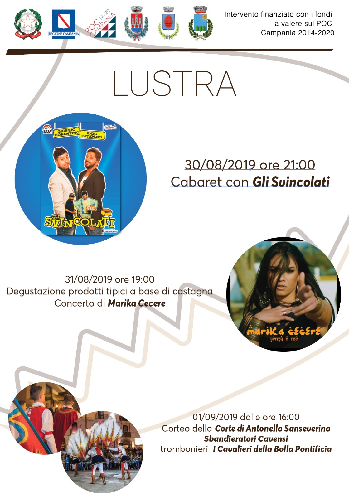 """""""Festa della Castagna 2019"""" A Lustra una tre giorni di spettacoli e degustazioni 30 e 31 agosto, 1° settembre"""