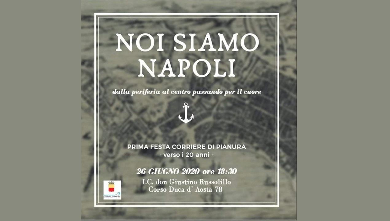 """""""Noi siamo Napoli"""": festa per l' attività de """"Il Corriere di Pianura"""", voce del quartiere da circa 20 anni"""